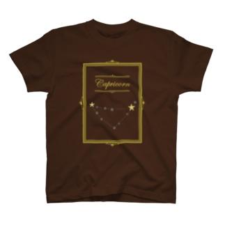 スタースタッズ星座 山羊座 T-shirts