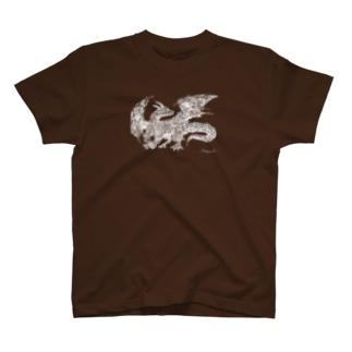 ドラゴン 白 T-Shirt