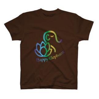 Happy Elephant(マルチブルー) T-shirts