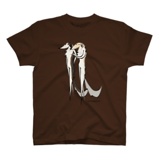 ボルゾイ ランウェイ(前面プリント) T-shirts