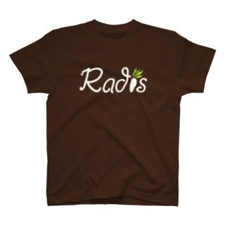 Radis ロゴ White T-shirts
