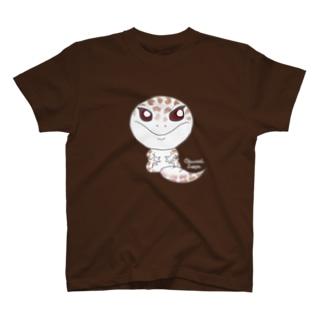 おすわりレオパ(スーパーアルビノ系) T-Shirt