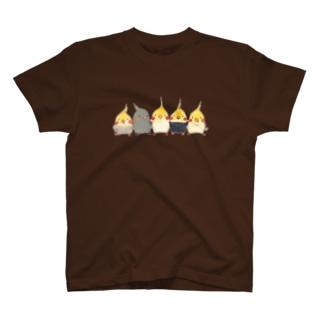 ハミングピッピのオカメちゃん集合ー! T-shirts
