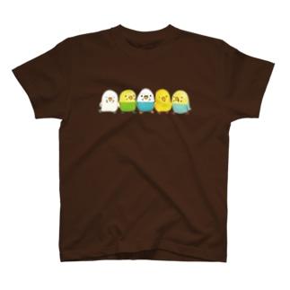 ハミングピッピのセキセイちゃん集合ー! T-shirts