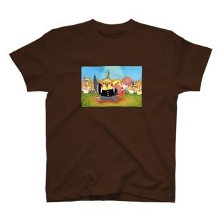 ハミングピッピのオカメインコ応援団 T-shirts