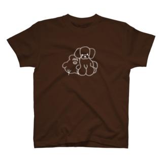 mugny shopのプードル T-shirts