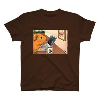 ノマドワーカーなモルモット T-shirts