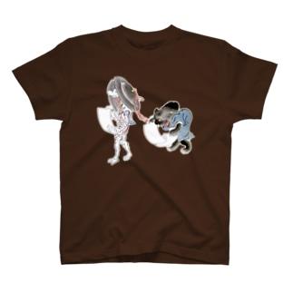 百鬼夜行絵巻 銅拍子の付喪神と黒い妖怪【絵巻物・妖怪・かわいい】 T-shirts