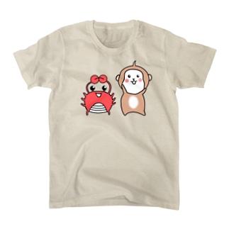 猿と蟹 T-Shirt