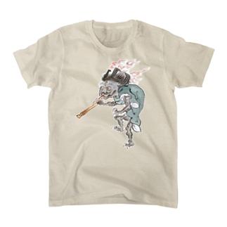 百鬼夜行絵巻 五徳の付喪神【絵巻物・妖怪・かわいい】 T-shirts