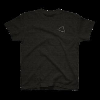 明季 aki_ishibashiの胸に冬の大三角を宿してTシャツ