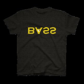 2753GRAPHICSのURAME BASS TEE(マスタードロゴ) Tシャツ