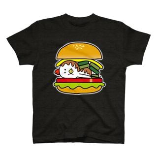 とり男バーガー Tシャツ