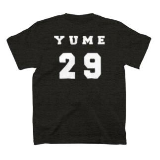 背番号白プリント T-shirts