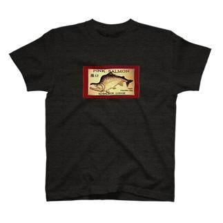 カラフトマス!羅臼【セッパリ;PINK SALMON】生命たちへ感謝を捧げます。※価格は予告なく改定される場合がございます。 T-shirts