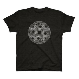 直弧文Tシャツ -線刻ver.- T-shirts