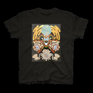 アトリエ蟲人の月の蛾 T-shirts