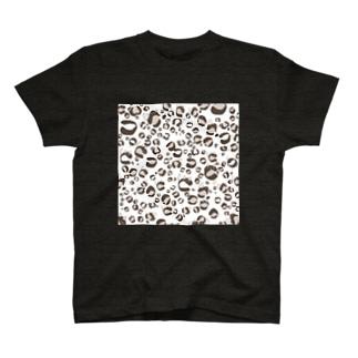ひょう柄猫ちゃん白 T-shirts