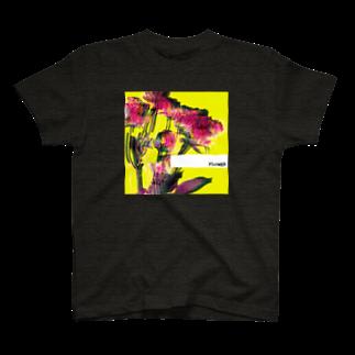 AXELのエモグリッチフラワー T-shirts