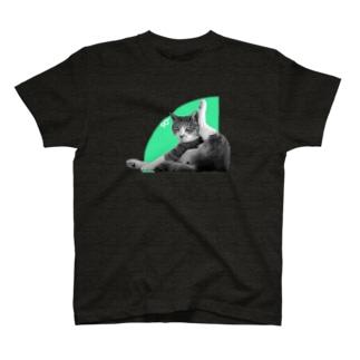 ネコの90° Tシャツ