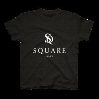 SQUARE-Osaka-のオリジナルグッズ by SQUARE-Osaka- Black T-shirts