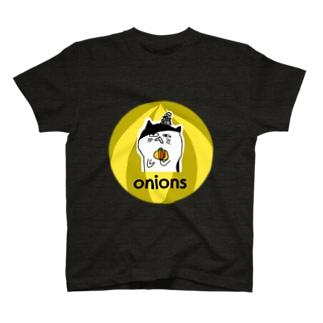 ぶさかわねこonions  黒 Tシャツ