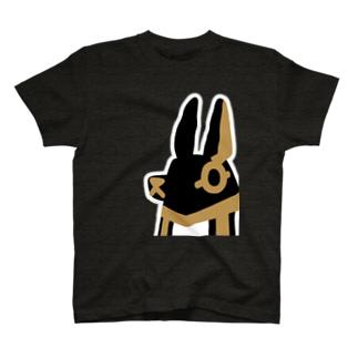 とーとつにエジプト神 アヌビス T-shirts