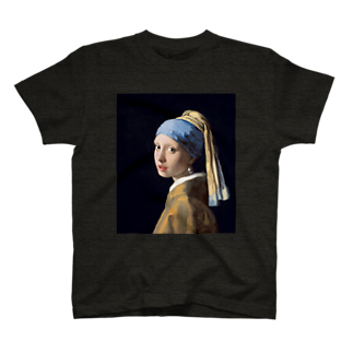 Art Baseのフェルメール / 真珠の耳飾りの少女(The Girl with a Pearl Earring 1665) T-shirts