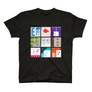 九字(濃い色用) T-shirts