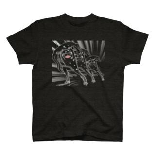 ダイオウイカとカエル(白残像) T-shirts