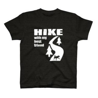HIKE白 T-shirts