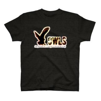 ふくろうのようにおちついて T-shirts