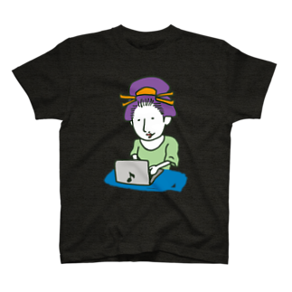 Oedo CollectionのPC Girl/濃色Tシャツ T-shirts