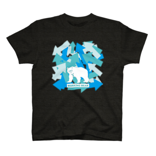 WORKING BEARの【WORKING BEAR】Arrow Bear Blue T-shirts