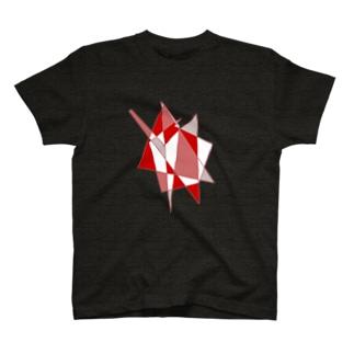 赤い幾何学 T-shirts