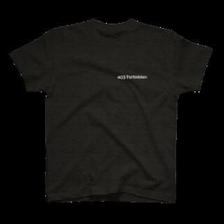 403Forbiddenの403forbidden black TEE T-shirts