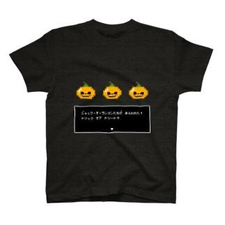 ドット絵ハロウィン ジャック・オ・ランタンとバトル T-shirts
