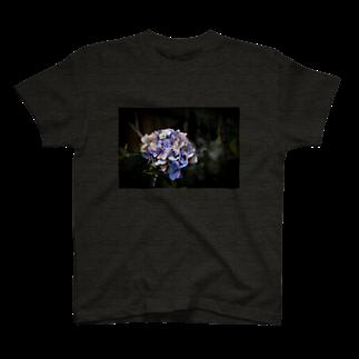 EViLの【花途夢】紫陽花(紫) T-shirts
