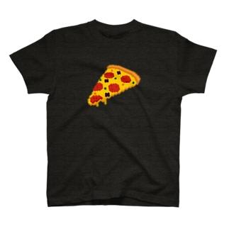 3Dドット ボクセル ピザ T-shirts