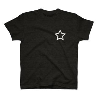 シンプル星 白枠 T-shirts