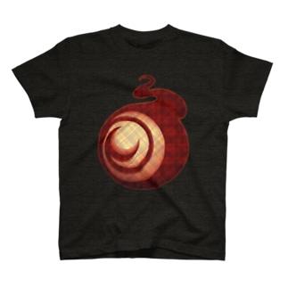 ㈱山口敏太郎タートルカンパニーのタートルカンパニー・ビッグアイ【チェック柄-赤】 T-shirts