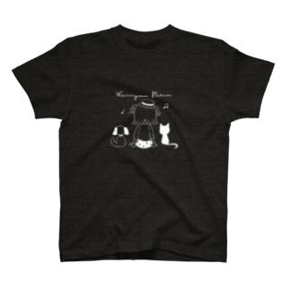 Wan Nyan Miria T(白柄) T-shirts