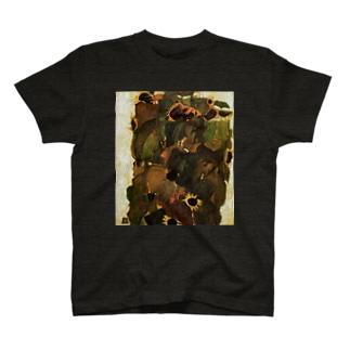 エゴンシーレ ひまわり 1911 アート系 T-shirts