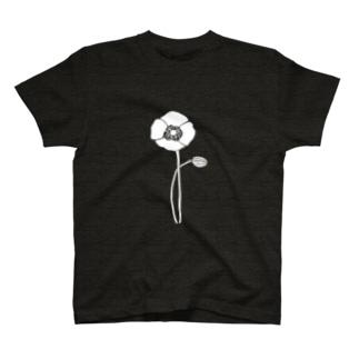 アネモネホワイト T-shirts