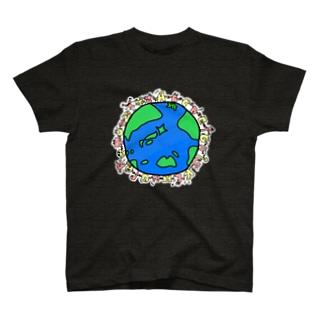 みんなで作った54T🌏・濃色用フチあり T-shirts