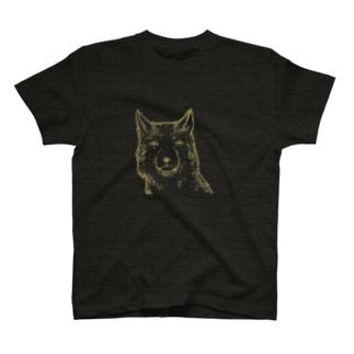 6ft開けるチベットスナギツネ(主線茶色ver) T-shirts