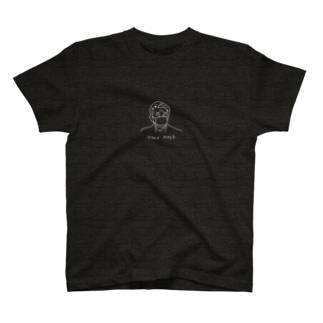 マスク2枚 白色プリント T-shirts