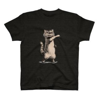 ねこのTシャツやさんのへんしんねこ1号 T-shirts