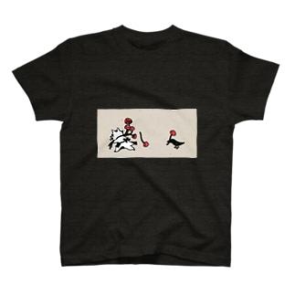 鴉ときのことなまら猫 T-shirts
