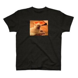 印刷ミス猫2 T-shirts